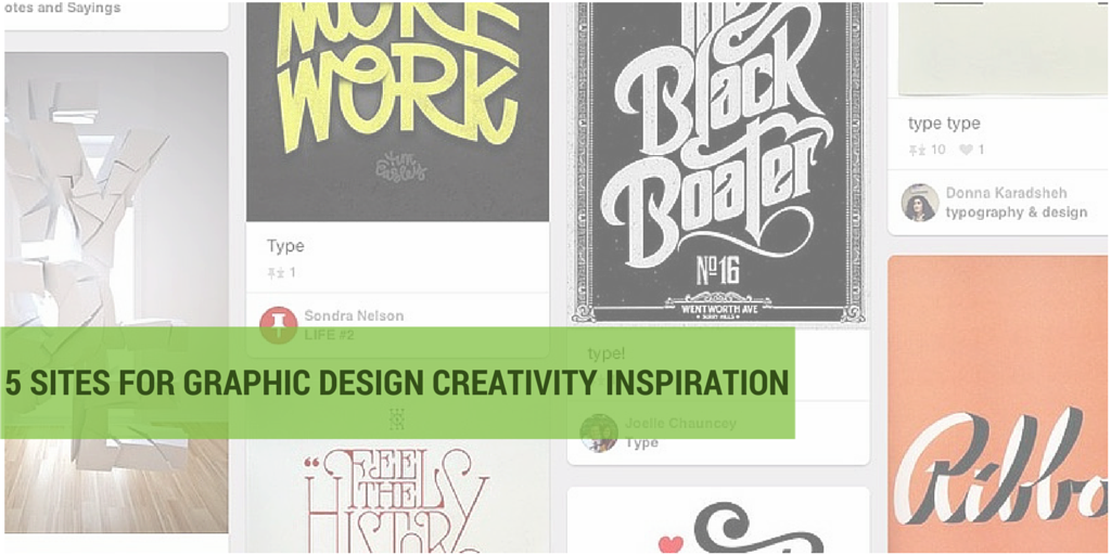 Creative Inspiration: Where Do You Find It? Five of My Favorite Sites for Graphic Design Inspiration