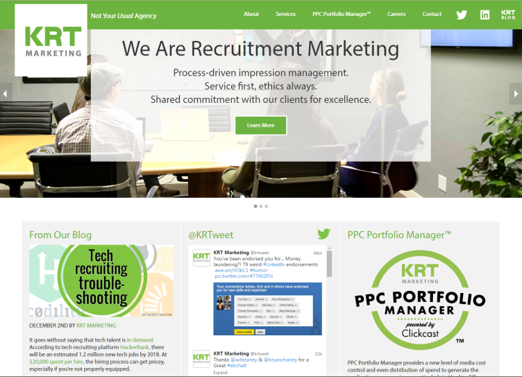 New Year, New Website! - KRT Marketing - Recruitment Advertising Blog