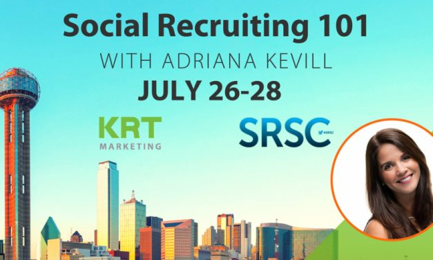 Recruiters, will you be at SRSC in Dallas?